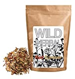 Wild Herbal #5 Red Summer Tea Blend by Wild Foods - 9 Ingredient Tea with Honeybush, Lemongrass, Lemon myrtle, Rose Hips, Eucalyptus, Hibiscus, Safflower, Marigolds (8 Ounce)