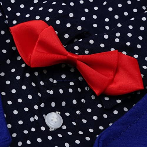 3PC Shirt Gray Pants Nectie Set Baby Boy Toddler Kid Formal Suit Sm-150