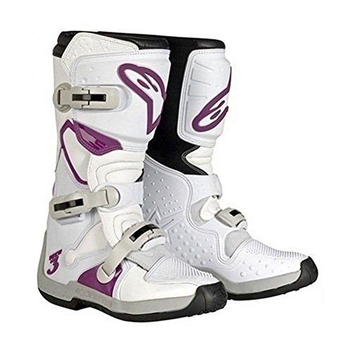 Alpinestars Women's Stella Tech-3 Boots (7) (White/Violet)