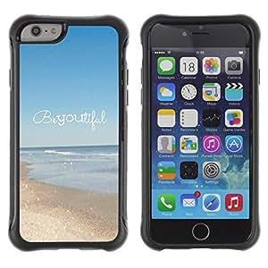 Suave TPU GEL Carcasa Funda Silicona Blando Estuche Caso de protección (para) Apple Iphone 6 / CECELL Phone case / / beautiful summer motivational text /