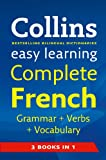 Easy Learning Complete French Grammar, Verbs and Vocabulary (3 Books in 1)