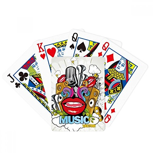 (DIYthinker Graffiti Street Colorful Mouth Stereo Poker Playing Cards Tabletop Game Gift)