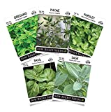 Sow Right Seeds - Italian Herb Garden Seed Collection - Basil, Oregano, Parsley, Sage, and Thyme; All Non GMO Heirloom Seeds with Full Instructions for Planting an Easy to Grow Kitchen Garden, Indoor