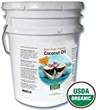 Organic Garlic Coconut Oil. Contains over 50% allicin. The Best Tasting Coconut Oil Certified Organic Extra Virgin Coconut Oil from the Beautiful Fiji Islands.(5 gal. Garlic)