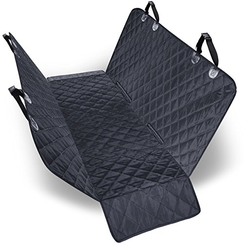 URPOWER 100% Waterproof Dog Car Seat Covers Car Cover for Dogs Pet Seat Cover with Side Flaps Hammock Convertible Scratch Proof Nonslip Washable Padded Dog Seat Cover for Cars Trucks and (Back Bench Cover)