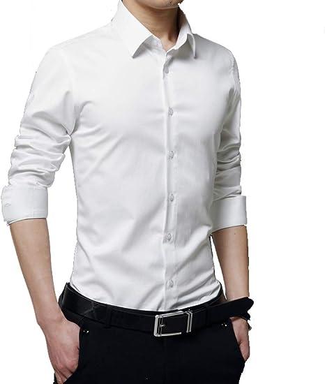 SBL Camisa de Manga Larga para Hombres, Camisa Casual de Negocios Juveniles, Camisa de Hombre de Boda Elegante para Hombres de Boda.: Amazon.es: Deportes y aire libre