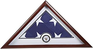 product image for US Navy Interment American Burial Flag Display Case with Official Navy Medallion and US Interment Flag