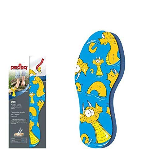 Pedag 105 Soft for Kid's Colorful, Fabric Covered, Airy Latex Foam Washable Shoe Pad, Lemon Fragrance, Children's 10.5/11 ch, 1 Pair from pedag