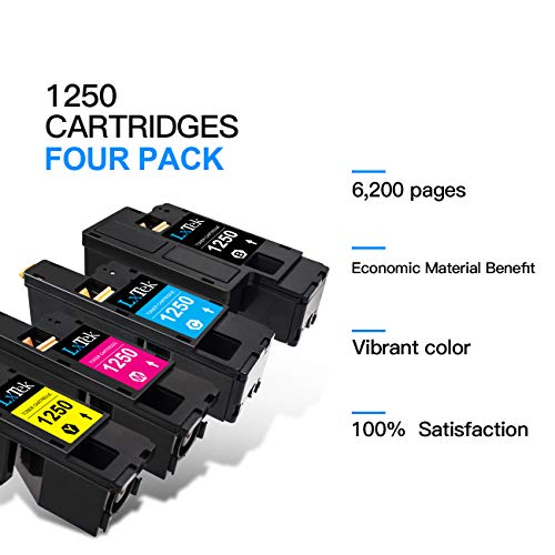 LxTek Compatible Toner Cartridge Replacement for Dell 1250 810WH C5GC3  XMX5D WM2JC to Used with Dell 1250c C1760nw C1765nfw C1765nf 1350cnw 1355cn