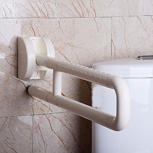浴室用手すり 便器の底の丸いお年寄りの席の便器の上で手すりをひっくり返して手がなくて手すりに手すりをします,黄色