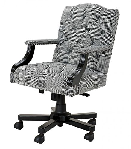 casa padrino luxury executive office chair black white checkered