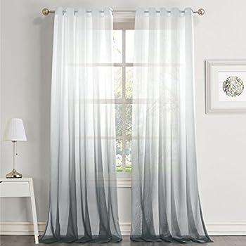Amazon Com H Versailtex Taupe Gray Curtains Natural Linen