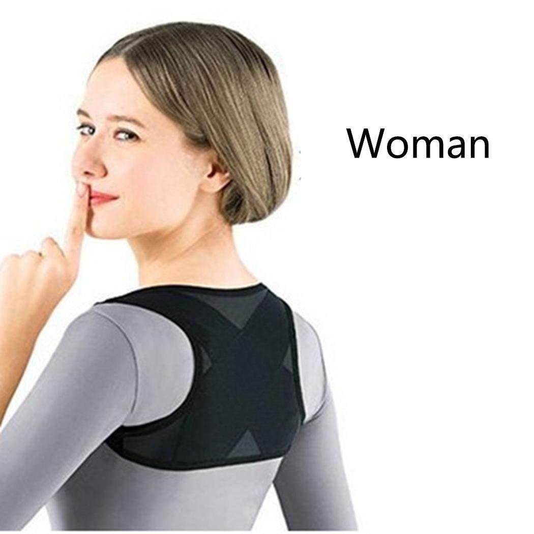 Tinffy Bulges Adult Posture Corrector Adjustable Shoulder Lumbar Brace Spine Support Belt Accessories