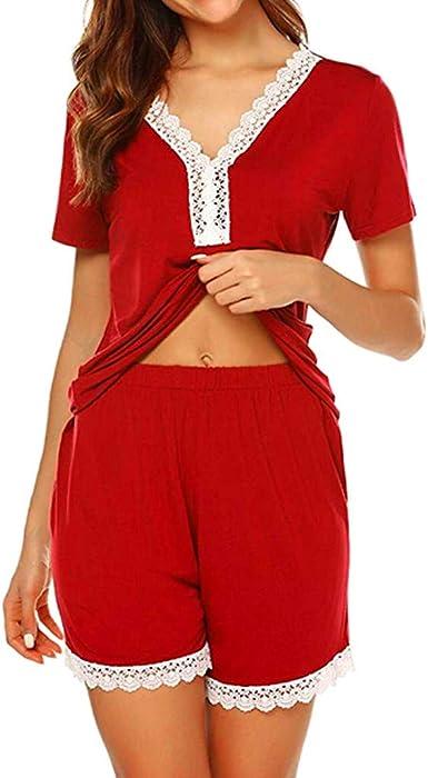 Vectry Pijama Mujer Invierno Pijamas De Mujer Sexy Conjunto ...