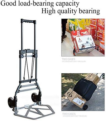 AWSLHH Carretilla de Mano/Carretilla para Saco: Carro de Saco y Plataforma Plegable de aleación de Aluminio Plegable Multifuncional para Levantar y Mover cómodamente en casa: Amazon.es: Jardín