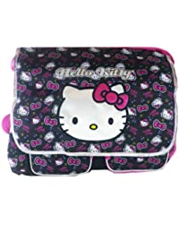 Black and Pink Face Hello Kitty Messenger Bag - Hello Kitty Laptop Bag