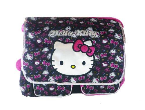 Black and Pink Face Hello Kitty Messenger Bag - Hello Kitty Laptop Bag