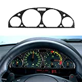 Festnight Carbon Fiber Interior Instrument Dashboard Cover Dashboard Panel Frame Sticker Decorative Cover for BMW 3 Series E46 (1998-2005)
