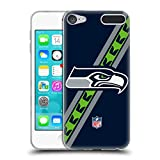 Official NFL Stripes Seattle Seahawks Logo Soft Gel Case for Apple iPod Touch 6G 6th Gen