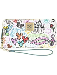 Sketch Mickey & Minnie Zip Wallet by Dooney & Bourke Wristlet