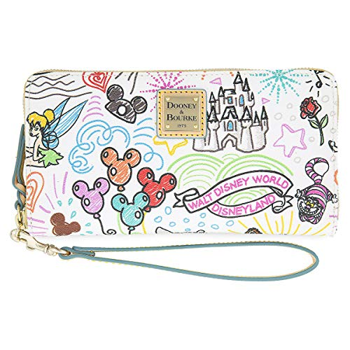 Disney Parks Sketch Mickey & Minnie Zip Wallet by Dooney & Bourke Wristlet