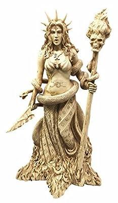 Greek Goddess White Sorceress Witchcraft Hecate Figurine Hekate Necromancy Deity Magic Powerful Pagan Witch