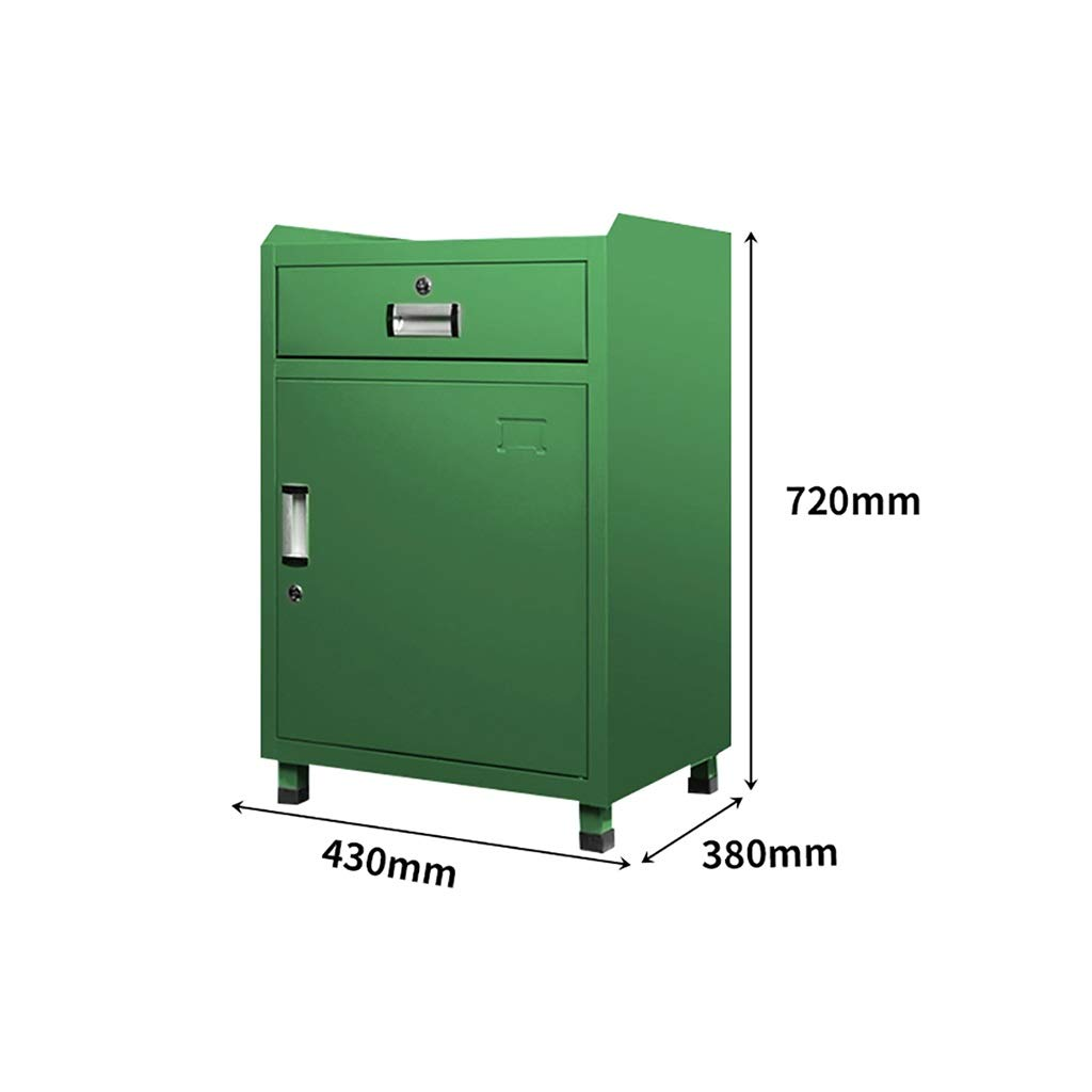 QSJY File Cabinets Fireproof and Durable Large Space with Lock Metal Locker Compartment Design Storage Protection Important documents 43X38X72CM (Color : C)