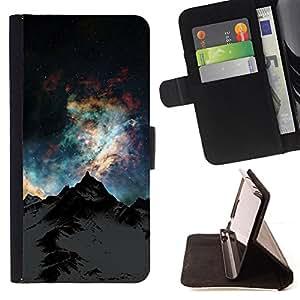 BullDog Case - FOR/Apple Iphone 6 / - / Nature Beautiful Forrest Green 172 /- Monedero de cuero de la PU Llevar cubierta de la caja con el ID Credit Card Slots Flip funda de cuer