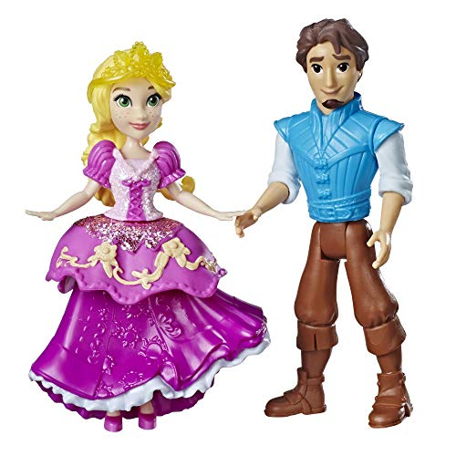 Disney Princess Rapunzel & Eugene Fitzherbert, 2 Dolls, Royal Clips Fashion, One-Clip Skirt -