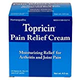 Topricin Pain Relief Cream Moisturizing Relief For Arthritis And Joint Pain, Cream 4 oz ( Pack of 12)