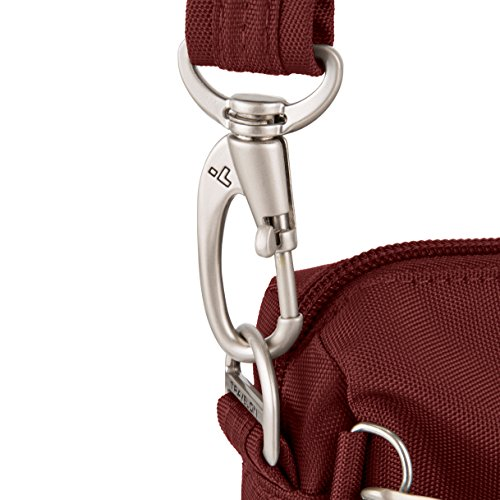 Travelon Anti Crossbody w Classic Wine Bag E Black theft Small rrdZ1xqwv