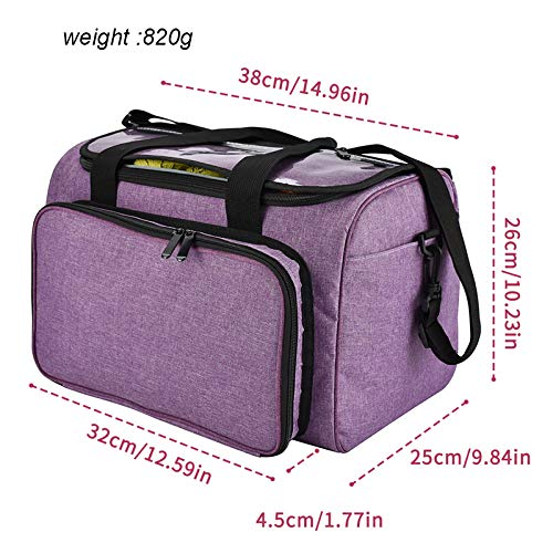 Knitting Tote Bag Yarn Storage, High Capacit Yarn Organizer Crochet Bag with Inner Divider, Enjoy Outdoor Knitting Needles Case, Protect Yarn and Prevent Tanglin