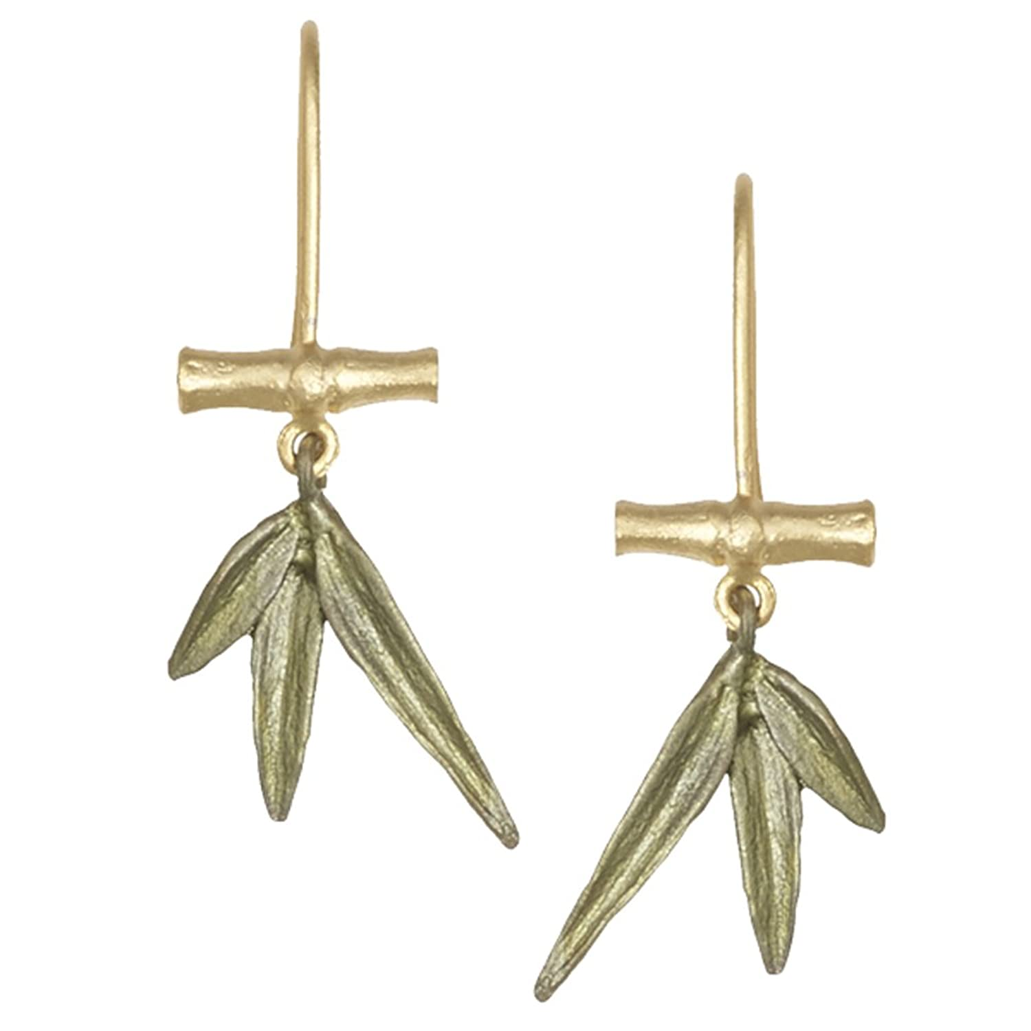 """Bamboo"" Small Branch Wire Earrings by Michael Michaud for Silver Seasons…"