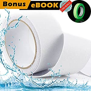 [FLASH SALE] Anti Slip Tape Clear - Bonus Glow In The Dark Tape + eBOOK| Tread High Friction Strong Grip Abrasive | Improves Traction and Prevents Risk for Indoor Outdoor Stair Bathtub Shower 2''X16'