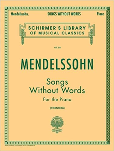 Image result for Felix Mendelssohn picture of cover for his Song Without Words