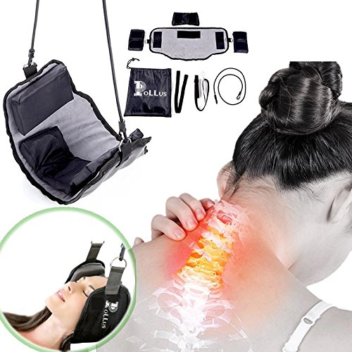 Neck Hammock: Light Weight, Portable, Therapeutic Tension Device with Carrying Bag and Straps Included - Gradually Stretches for Relief of Neck Pain- Great for Relaxation, Home, Office, and Travel by Pollus (Image #4)