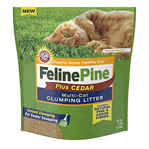 - Feline Pine Plus Cedar Natural Clumping Litter, 12 lbs.