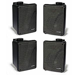 "Kicker 4 KB6000 6.5"" Black Full Range Indoor/Outdoor/Marine Speakers 11KB6000B"