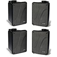 4) KICKER KB6000 6.5 Black Full Range Indoor/Outdoor/Marine Speakers 11KB6000B