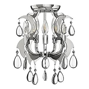CA Crystal Flush Mount, 5 Light, Luxury Iron Electroplating