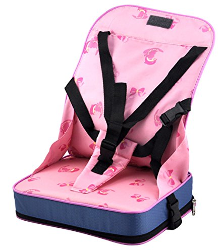 foldable baby booster seat travel high chair portable car table toddlers child pink buy. Black Bedroom Furniture Sets. Home Design Ideas