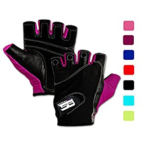 RIMSports Weightlifting Gloves w/Washable-Premium Gym Gloves For Powerlifting Weight Training Gym Weights Biking Cycling - Best Training Gloves To Workout With Weights (Purple S)