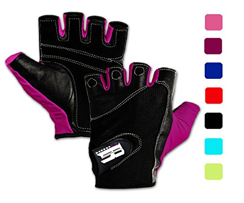 Purple Weight - RIMSports Weightlifting Gloves w/Washable-Premium Gym Gloves for Powerlifting Weight Training Gym Weights Biking Cycling - Best Training Gloves to Workout with Weights (Purple S)