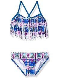 Kanu Surf Girls' Kayla Fringe Bikini Swimsuit