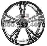 Xtreme Machine Fierce Rear Wheel - 18x4.25 - Black Cut Xquisite , Color: Black, Position: Rear, Rim Size: 18 1290-7809R-XFR-BMP