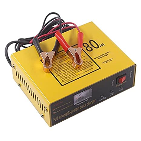 EDTara Full Automatic-Protect Quick Charger 6V//12V 80AH 140W Professional Automatic Intelligent Car Battery Charger