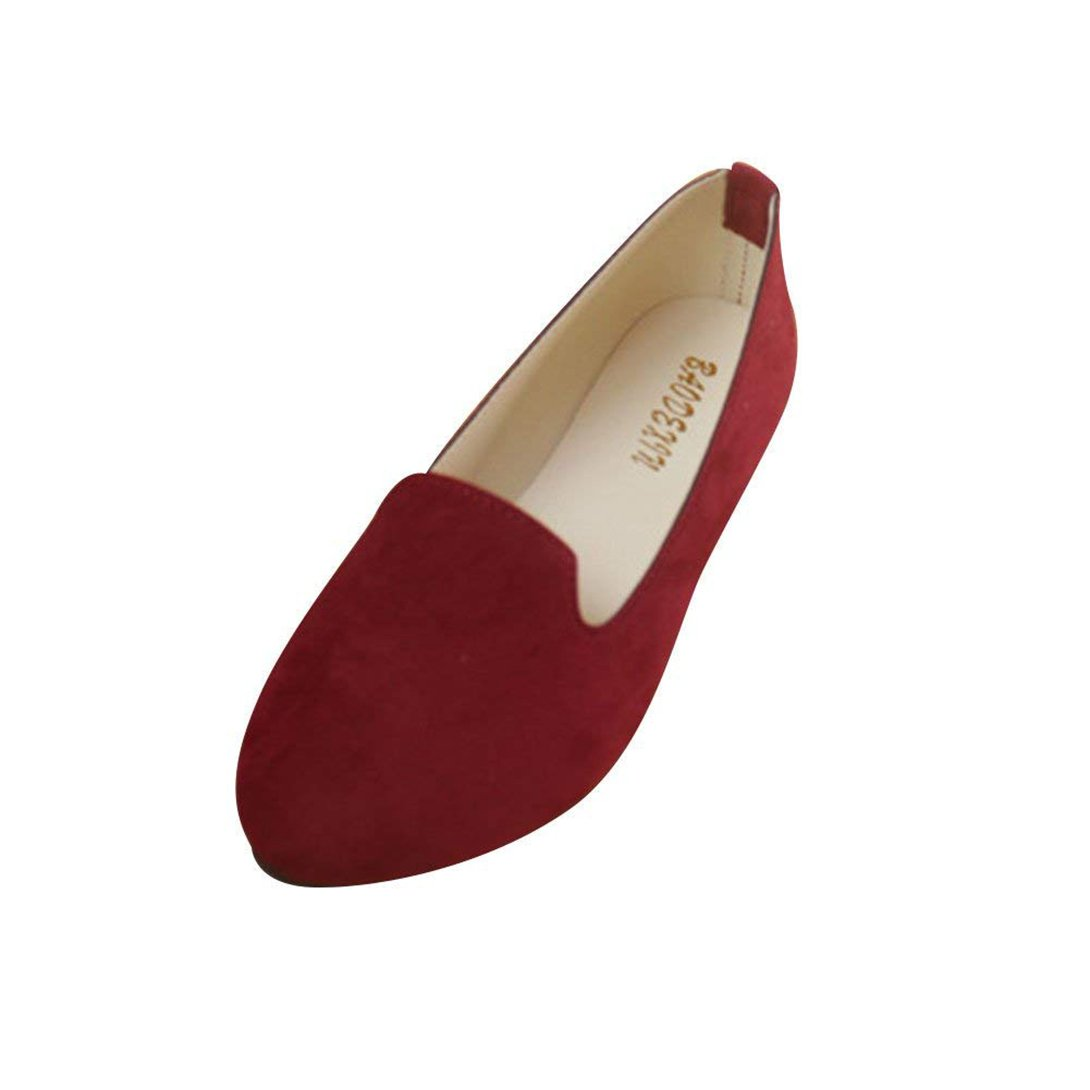 Femme Ballerines Plates Casual Pointue Depolie Confortable Casual Femme y Mary Elegante Mode Simple Mary Janes Vin Rouge ace93a9 - reprogrammed.space