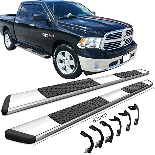 Running Boards Fits 2009 2016 Dodge Ram Crew Cab Ram Luxury Oe Style Chrome With Black Stainless Steel 82inch Side Step Bars Nerf Bars By Ikon Motorsports 2010 2011 2012 2013 2014 2015