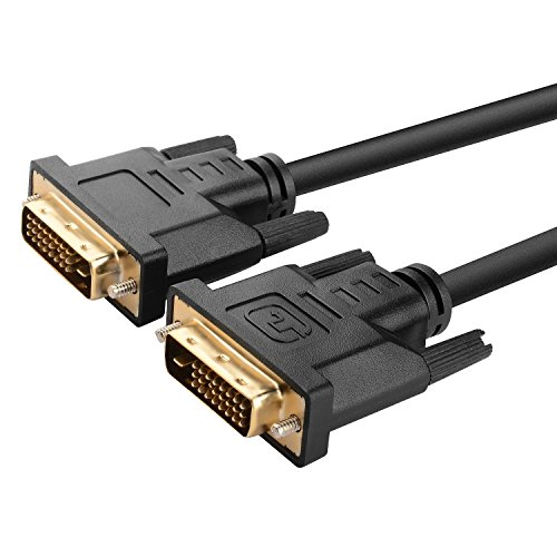 24 Awg Microphone Cable (Insten POTHDVIX6F01 Gold-Plated DVI-D Digital Dual Link Cable 9.9Gbps 24 Plus 1 Pin 6-Feet,)