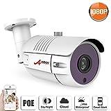 POE Bullet IP Security Camera HD Outdoor/Indoor 2.0 Megapixel - IP66 Weatherproof, Day and Night SW SWINWAY / ANRAN